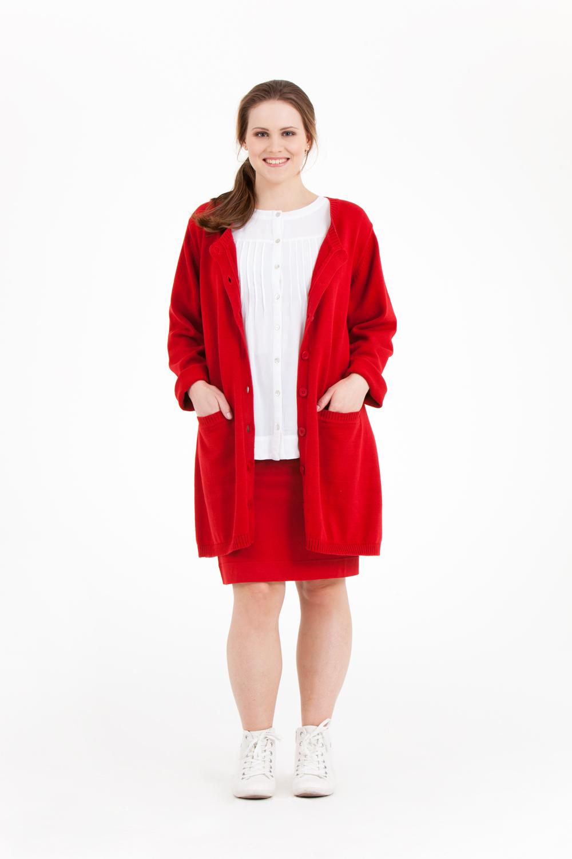 Kort röd kjol storlek 42-56