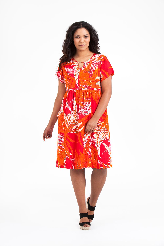 Noor klänning Fern orange