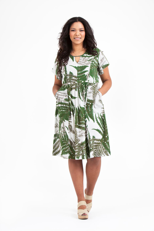Noor klänning Fern grön
